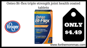 Osteo Bi-flex triple strength joint health coated tablets