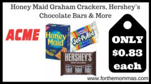 Honey Maid Graham Crackers, Hershey's Chocolate Bars & More
