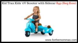 Kid Trax Kids' 6V Scooter with Sidecar