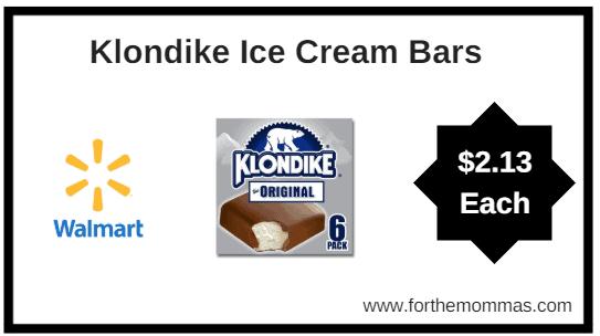 Walmart: Klondike Ice Cream Bars 6ct $2.13