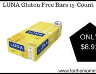 LUNA Gluten Free Bars 15-Count
