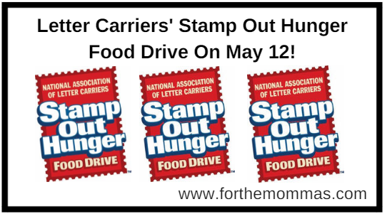 letter carriers stamp out hunger food drive on may 12