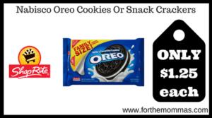 Nabisco Oreo Cookies Or Snack Crackers