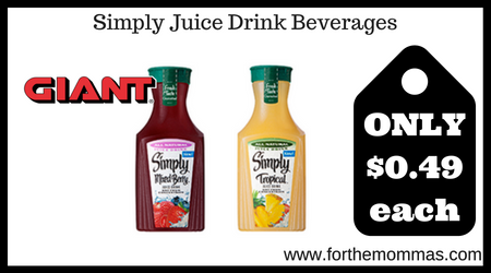 Simply Juice Drink Beverages