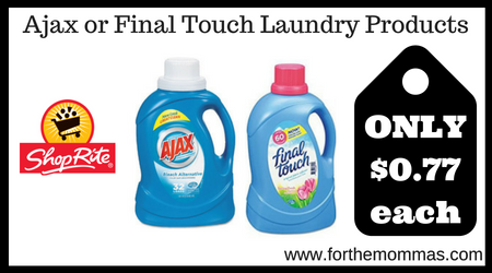 Ajax or Final Touch Laundry Products