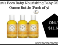 Burt's Bees Baby Nourishing Baby Oil, 4 Ounce Bottle (Pack of 3)
