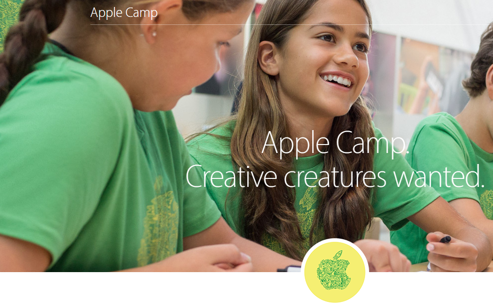 Free 3-Day Workshops Apple Camp for Kids 2018