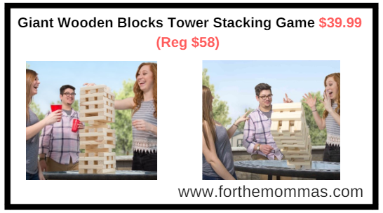 Walmart Giant Wooden Blocks Tower Stacking Game By Hey Play