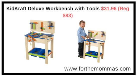 Amazon.com: KidKraft Deluxe Workbench with Tools $31.96 (Reg $83)
