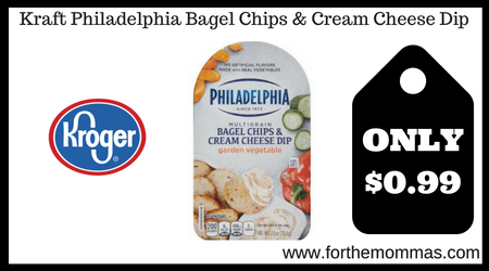 Kraft Philadelphia Bagel Chips & Cream Cheese Dip