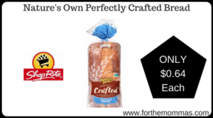 Nature's Own Perfectly Crafted Bread