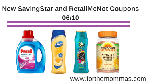 New SavingStar and RetailMeNot Coupons 06/10: Persil, Dial, Tone and More