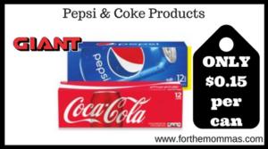Pepsi & Coke Products