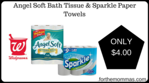 Angel Soft Bath Tissue & Sparkle Paper Towels