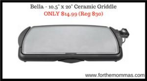 "Bella - 10.5"" x 20"" Ceramic Griddle"