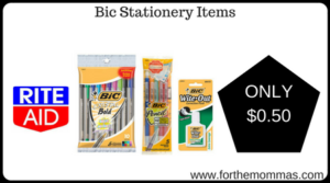 Bic Stationery Items