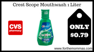 Crest Scope Mouthwash 1 Liter