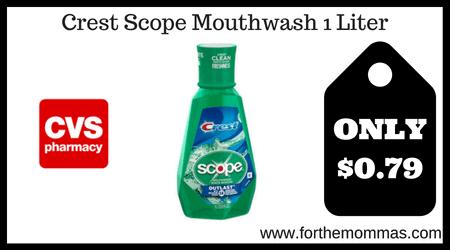 Crest Scope Mouthwash 1 Liter