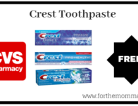 Free Crest Toothpaste Starting 9/22