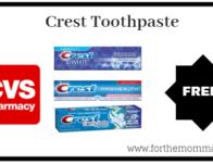 CVS: Free Crest Toothpaste Starting 9/22
