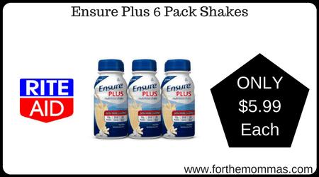 Ensure Plus 6 Pack Shakes