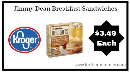 Kroger: Jimmy Dean Breakfast Sandwiches