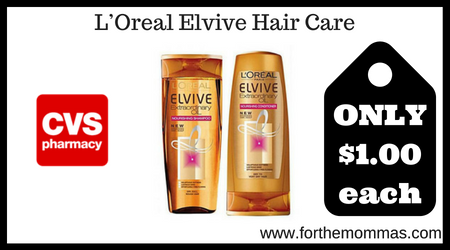 CVS: L'Oréal Elvive Shampoo & Conditioner ONLY $1 Each Starting 1/5