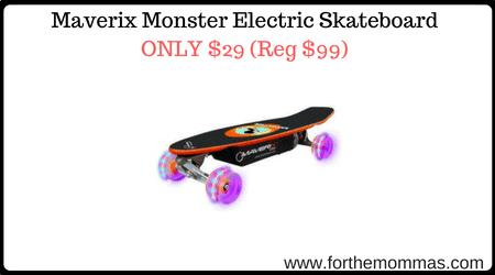 Maverix Monster Electric Skateboard Only 29 Reg 99