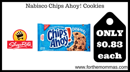 picture relating to Chips Ahoy Coupons Printable referred to as ShopRite: Nabisco Chips Ahoy! Cookies Merely $0.83 Each individual