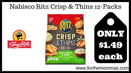 Nabisco Ritz Crisp & Thins 12-Packs