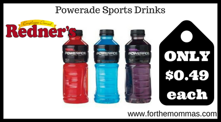 photo regarding Printable Powerade Coupons named Redners: Powerade Sports activities Beverages Simply just $0.49 Every NO Discount codes