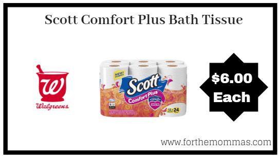 Walgreens: Scott Comfort Plus Bath Tissue 24 Rolls ONLY $6 Starting 7/15