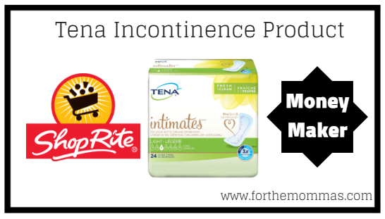 ShopRite: FREE Tena Incontinence Products + Moneymaker Thru
