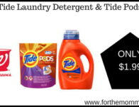Tide Laundry Detergent ONLY $1.99 Starting 6/30