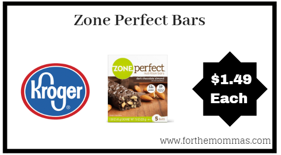 Kroger Mega Sale: Zone Perfect Bars ONLY $1.49 (Reg $3.99)
