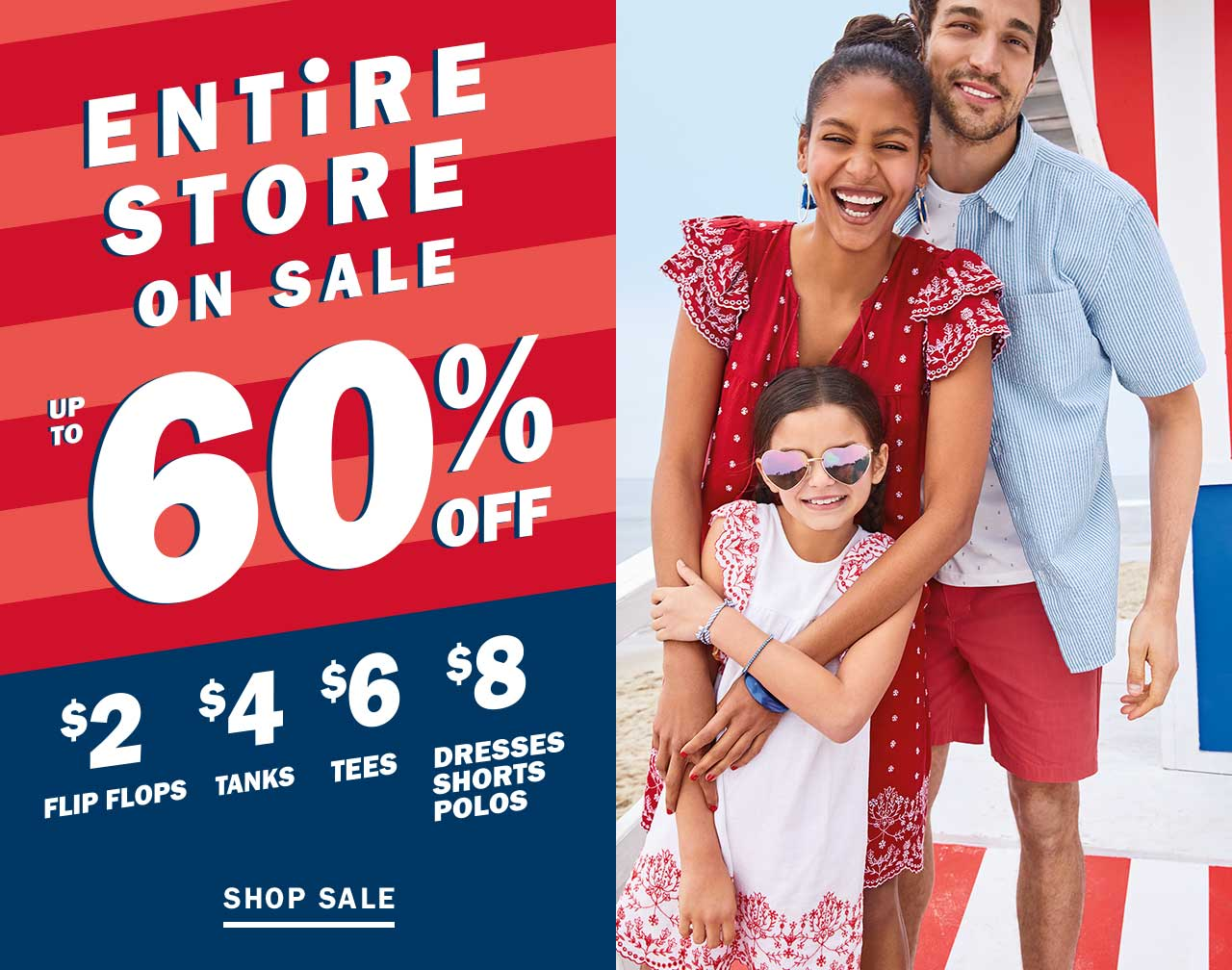 Old Navy: Up to 60% Off Sale - FTM