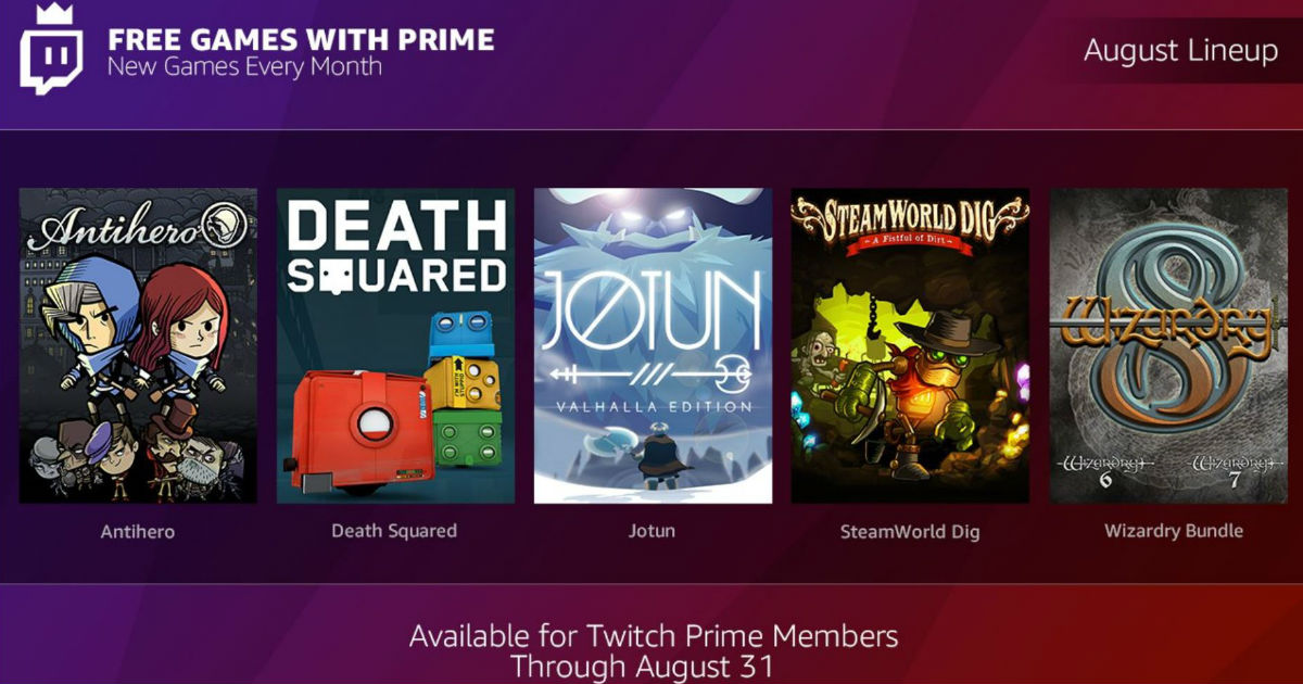 5 FREE Digital PC Games from Twitch Prime
