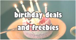 Birthday Deals