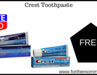 Free Crest Toothpaste Starting 8/25