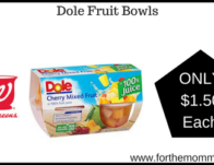 Dole Fruit Bowls 4-Pack ONLY $1.50 Each Starting 2/24