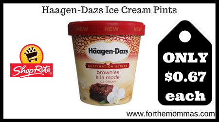 image relating to Haagen Dazs Coupon Printable titled ShopRite: Haagen-Dazs Ice Product Pints Merely $0.67 Each individual Via 8