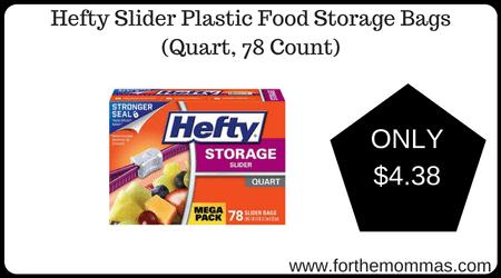 Hefty Slider Plastic Food Storage Bags