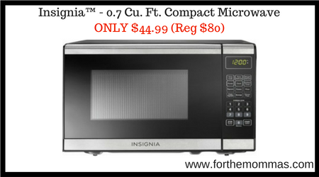 Insignia™ – 0.7 Cu. Ft. Compact Microwave ONLY $44.99 Shipped (Reg $80)