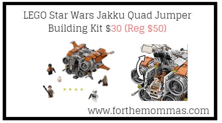 LEGO Star Wars Jakku Quad Jumper Building Kit $30 (Reg $50)