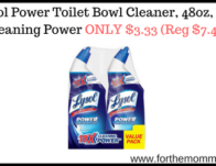 Lysol Power Toilet Bowl Cleaner, 48oz, 10X Cleaning Power