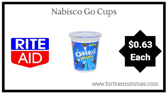 Rite Aid: Nabisco Go Cups ONLY $0.63 Each Starting 9/2