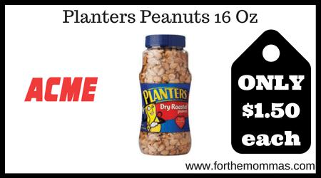 Planters Peanuts 16 Oz