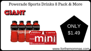 Powerade Sports Drinks 8 Pack & More