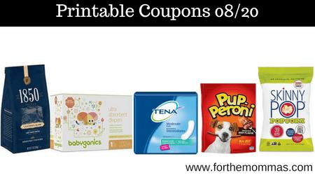 graphic about Babyganics Coupon Printable called Hottest Printable Discount coupons 08/20: Help you save Upon Babyganics, TENA