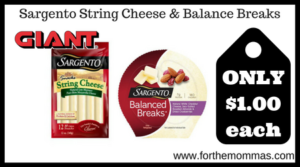 Sargento String Cheese & Balance Breaks